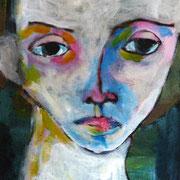 portrait d'homme, 2016, acrylique sur carton entoilé, 24 x 33 cm.