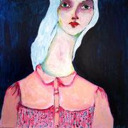 Carole, 2016, acrylique sur toile - 50 x 50 cm - Disponible à la Galerie Art Up Déco