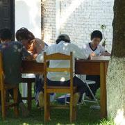 Schulaufgaben im freien