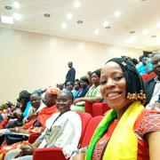 Anne Pelagie Yotchou, Cameroun, lors de l'ouverture de la conférence.