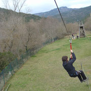 Tirolina del Campo de Aventura de Sobrón