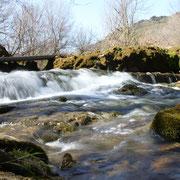 Salto de agua en Sobrón