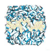 """Brick & Money<BR><FONT size=""""1"""">100 x 100cm R.K. 2012</FONT><BR>"""