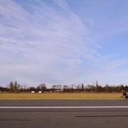 Start- und Landebahn heute: Rollfeld der etwas anderen Art...
