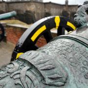 Auf der Georgenbatterie: Fünf Kanonen aus dem 17./18. Jahrhundert