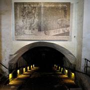 Eingang zum Keller des Proviantmagazins/ Magdalenenburg