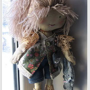 моя самая первая текстильная кукла