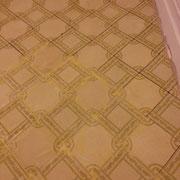 juntas de suelo de mosaico tapadas