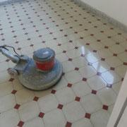 limpieza de mosaico