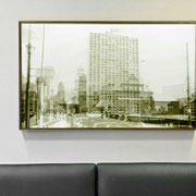 Multilayer Light box by Julia Blaukopf  for 2400 Chestnut Associates, Philadelphia PA