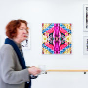 Exhibition Design for senior care facility in Munich, Germany - Artwork by Suse Güllert