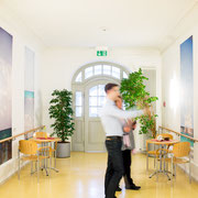 Photographic mural by Julia Blaukopf for senior care facility in Munich, Germany
