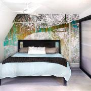Photographic mural by Julia Blaukopf - Metcalfe Residence