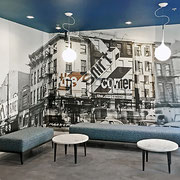 Photographic mural by Julia Blaukopf - The Shirt Corner Building, Philadelphia PA
