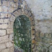 Der Eingang von innen fotografiert