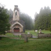 Die heutige Gedächtniskirche wurde auf den Ruinen der damaligen Ortschaft erbaut
