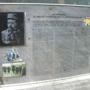 Gedenktafel für Andre Maginot, der in der Nähe verwundet wurde