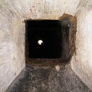 Schießschacht zum Tunnelausgang