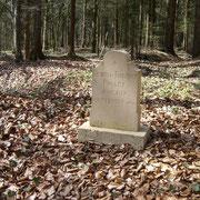 Gedenkstein der Brüder Poulet, die hier am 9.September 1916 gefallen sind