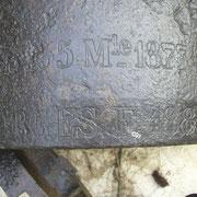 Reste eines französischen 15,5cm Geschützes