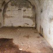 Kasematte im Inneren der Pulverkammer