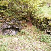 Seitenansicht des Bunkers