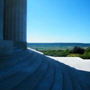 Blick von den Stufen des Monuments