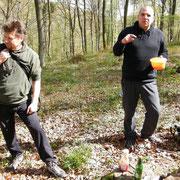 Jens Walko und Arne Beyerlein bei der Rast