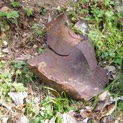 Fragment einer explodierten Granate