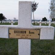 Grab des russischen Kriegsgefangenen Kusma Kossenkow, Angehöriger des 142. Infanterie Regiments