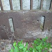 Tor des Eingangs mit Kampfspuren