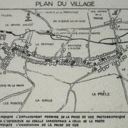 Plan der ehemaligen Ortschaft