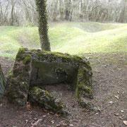 Reste eines betonierten Schützenstandes
