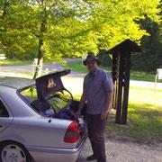 Oliver Meinert an unserem Parkplatz an der Batterie du Tunnel