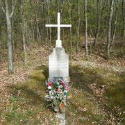 Gedenkstein für Maurice Coutier, der hier am 2. März 1916 auf Horchposten gefallen ist