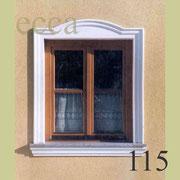 ecca Bild 115: Fensterumrandung mit eingesetztem Bogen und Sohlbank
