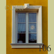 ecca Bild 106: Fassadenprofil, Schlussstein und Fensterbank