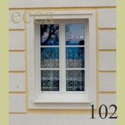 ecca Bild 102: Umrandung mit Fensterprofil, Nutprofilierung mt ecca-dec platten