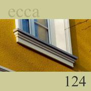 ecca Bild 124: Detailansicht Sohlbank verkröpft, unter dem Fensterbrett