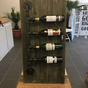 Wine Rack, Industrial Style, Handcrafted by Man Cave Signs & Co.