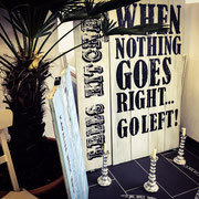 Vintage Sign, When nothing goes right, Handcrafted by Man Cave Signs & Co.