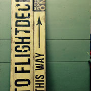 To Flightdeck, Vintage Sign, Handcrafted by Man Cave Signs & Co.