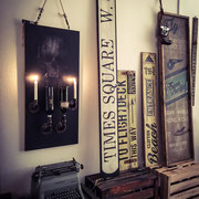 Skull Wine Rack, Industrial Style, Handcrafted by Man Cave Signs & Co.