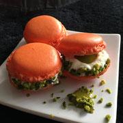 Macaron Passionsfrucht Pistazienpaste