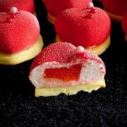Erdbeerherzen  mit Erdbeerkern
