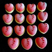 Erdbeer Herzen