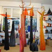 Francoise Chamagne, Jalons, sculptures en feutre, 2005