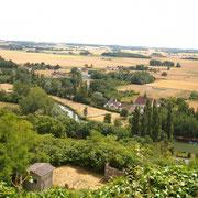 Trôo uitzicht over het dal van de Loir, st Jaques des guérets
