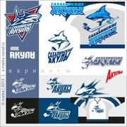 2013 варианты эмблемы команды Сахалинские акулы