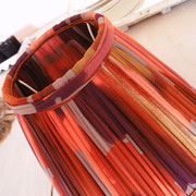 Petit abat-jour froncé en mousseline et doublé du même tissu, cousu à la main, création Côté Voltaire, Montpellier